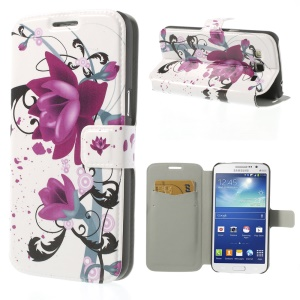 Elegant Lotus for Samsung Galaxy Grand 2 Duos G7102 G7105 Magnetic Leather Cover Stand