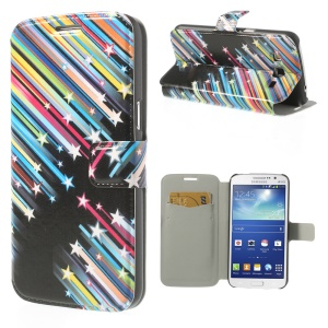 Meteor Shower for Samsung Galaxy Grand 2 Duos G7102 G7100 G7105 Flip Leather Cover Stand