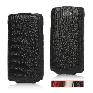 Crocodile Leather Hard Case for Samsung Galaxy W GT-I8150;Red