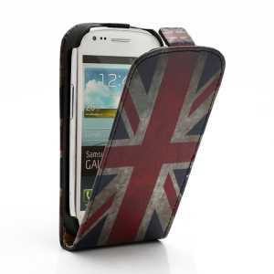 Retro UK National Flag Vertical Flip Leather Case for Samsung i8190 Galaxy S3 Mini