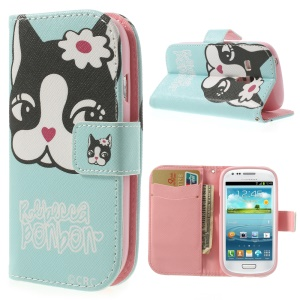 Rebecca Bonbon Protective Leather Wallet Case for Samsung Galaxy S3 Mini I8190