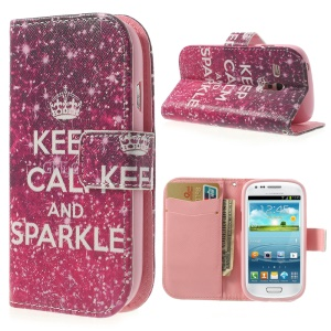 Crown & Quote Durable Stand Leather Cover Wallet for Samsung Galaxy S3 Mini I8190