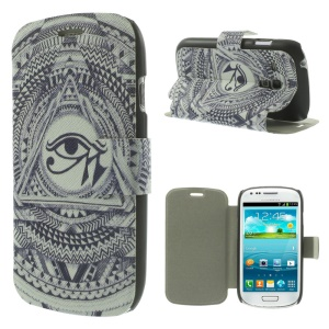 Eye of Horus within Triangle Folio Leather Stand Cover for Samsung Galaxy S3 Mini I8190