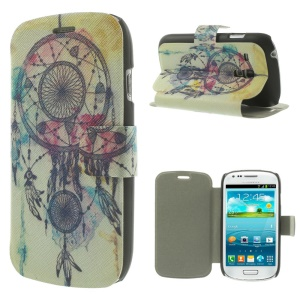 Magentic Leather Stand Case for Samsung Galaxy S3 Mini I8190 - Dream Catcher