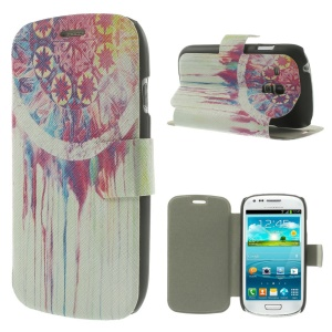 Magentic Leather Stand Shell for Samsung Galaxy S3 Mini I8190 - Watercolor Dream Catcher