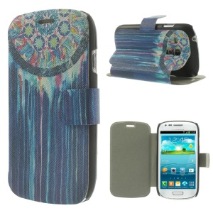 Blue Dream Catcher PU Leather Magnetic Cover for Samsung Galaxy S3 Mini I8190