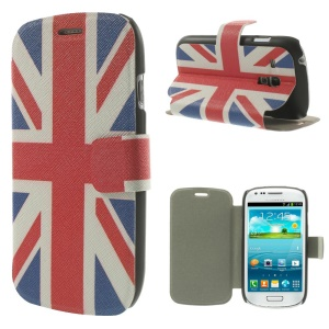 USA American Flag PU Leather Magnetic Cover for Samsung Galaxy S3 Mini I8190