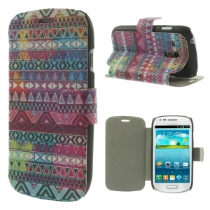 Stylish Tribal Pattern for Samsung Galaxy S3 Mini I8190 Leather Stand Shell Cover