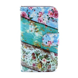 Magnetic Flip Leather Wallet Case for Samsung Galaxy Core I8260 I8262 - Roses Flower