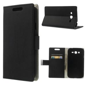 Black Litchi Skin Wallet Leather Case w/ Stand for Samsung Galaxy Grand Neo I9060 I9062 / i9080 i9082