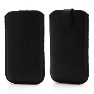 Sleeve Pouch Leather Cover w/ Pull Tab for Samsung Galaxy Grand I9080 I9082 Sony Xperia Z C6603