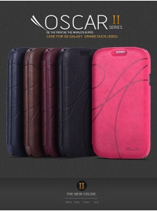 KLD Oscar II Series Leather Case w/ Card Slot Stand for Samsung Galaxy Grand i9082 i9080