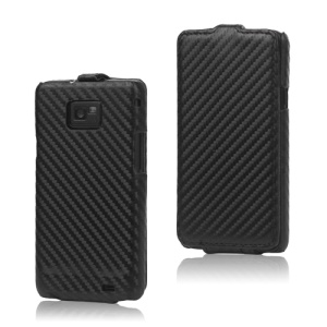 Carbon Fiber Leather Hard Case for Samsung I9100 Galaxy S2 / II