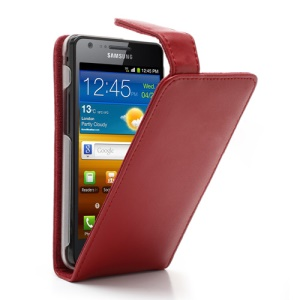Doormoon Genuine Leather Vertical Flip Case Cover for Samsung I9100 Galaxy S2 / II