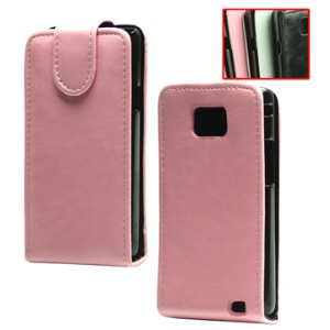 Vertical Magnetic Flip Leather Sleeve Case for Samsung I9100 Galaxy S2 / II