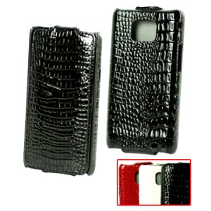 Noble Crocodile Skin Vertical  Flip Leather Case for Samsung I9100 Galaxy S 2