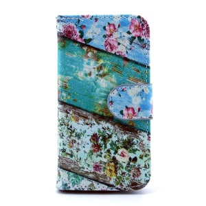 For Samsung Galaxy S4 mini i9190 Leather Stand Wallet Cover - Roses Flower