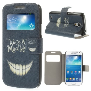We Are All Mad Here for Samsung Galaxy S4 mini i9190 View Window Folio Leather Stand Cover