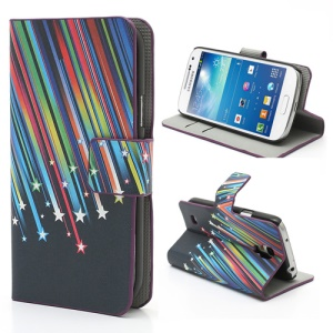 Meteor Shower Wallet Leather Case with Stand for Samsung Galaxy S4 mini i9195 i9190