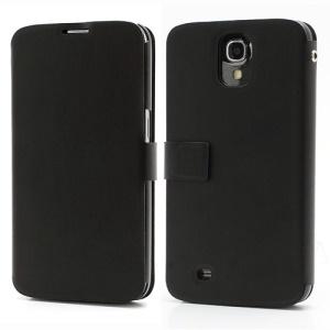Doormoon Genuine Leather Wallet Case for Samsung I9200 Galaxy Mega 6.3 - Black