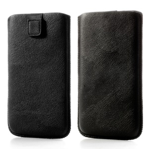 Black Leather Pouch Sleeve Skin Cover Case with Pull Tab for Samsung Galaxy Mega i9200 i9208 i9150 i9152