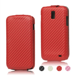 Carbon Fiber Leather Case for Samsung Galaxy S2 LTE i9210 E110s