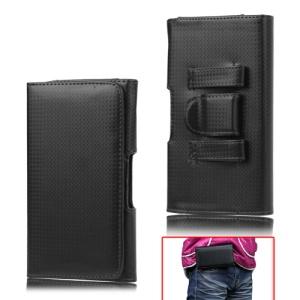 Woven Leather Holster Belt Case Pouch for Samsung Galaxy Note I9220 GT-N7000 I717 / Galaxy Note II N7100