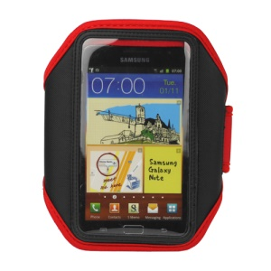 For Samsung Galaxy Note I9220 GT-N7000 I717 / Galaxy Note II N7100 Sport Gym Armband Case Cover - Red