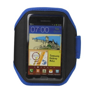 Sport Gym Armband Case for Samsung Galaxy Note I9220 GT-N7000 I717 / Galaxy Note II N7100 - Dark Blue