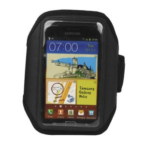 For Samsung Galaxy Note I9220 GT-N7000 I717 / Galaxy Note II N7100 Sport Gym Armband Case Cover - Black