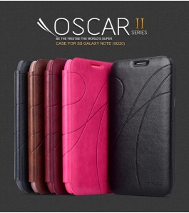 KLD Oscar II Series Card Slot Leather Stand Case for Samsung Galaxy Note i9220 N7000