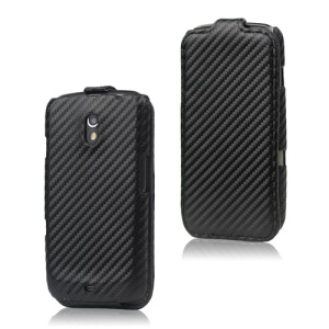 Leather Hard Case for Samsung Google Galaxy Nexus I9250 Carbon Fiber