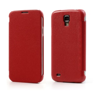 Red for Samsung Galaxy S4 Active I9295 I537 Super Slim Leather Flip Cover