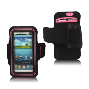 Fashion Sport Gym Armband Case for Samsung Galaxy S 3 / III I9300 I747 L710 T999 I535 R530 - Pink / Black
