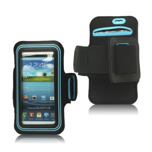 Fashion Sport Gym Armband Case for Samsung Galaxy S 3 / III I9300 I747 L710 T999 I535 R530 - Light Blue / Black