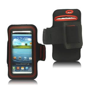 Fashion Sport Gym Armband Case for Samsung Galaxy S 3 / III I9300 I747 L710 T999 I535 R530 - Red / Black