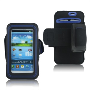 Fashion Sport Gym Armband Case for Samsung Galaxy S 3 / III I9300 I747 L710 T999 I535 R530 - Dark Blue