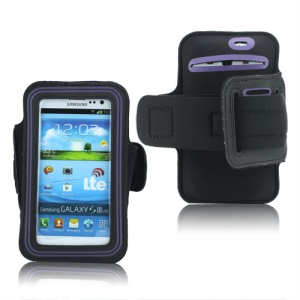 Fashion Sport Gym Armband Case for Samsung Galaxy S 3 / III I9300 I747 L710 T999 I535 R530 - Purple