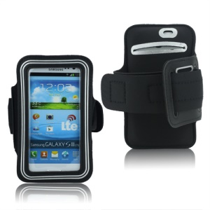 Fashion Sport Gym Armband Case for Samsung Galaxy S 3 / III I9300 I747 L710 T999 I535 R530 - Silver