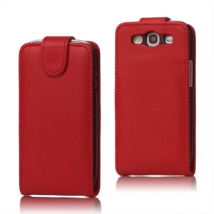 Leather Flip Case Cover for Samsung Galaxy S 3 / III I9300 I747 L710 T999 I535 R530 - Red