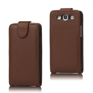 Leather Flip Case Cover for Samsung Galaxy S 3 / III I9300 I747 L710 T999 I535 R530 - Brown