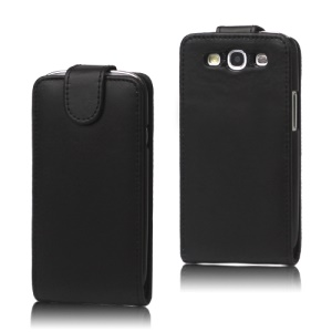 Leather Flip Case Cover for Samsung Galaxy S 3 / III I9300 I747 L710 T999 I535 R530 - Black