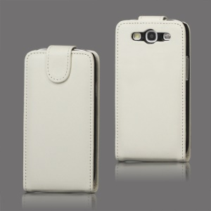 Leather Flip Case Cover for Samsung Galaxy S 3 / III I9300 I747 L710 T999 I535 R530 - White