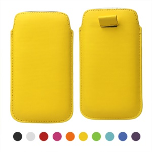 Pull Up Tab PU Leather Pouch Case for Samsung Galaxy S 3 / III I9300 Galaxy S 4 IV i9500 I9505
