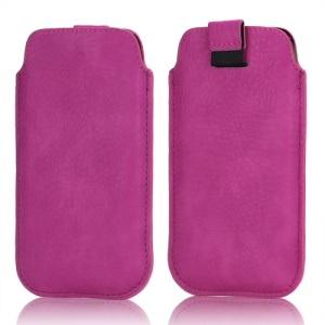 Stylish Leather Sleeve Pouch for Samsung Galaxy S3 III i9300 S4 i9500 i9250 LG E960 HTC 8X - Rose
