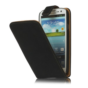 Antique Leather Flip Case for Samsung Galaxy S 3 / III I9300 I747 L710 T999 I535 R530 - Black