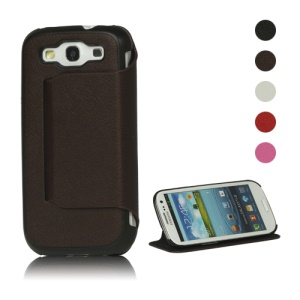 Stylish Leather Stand Case for Samsung Galaxy S 3 / III I9300 I747 L710 T999 I535 R530