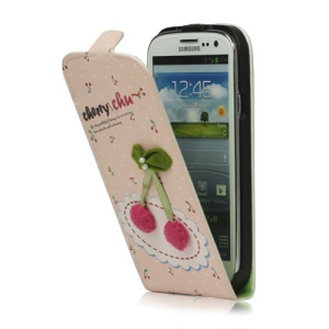 Cherry Magnetic Leather Case Cover for Samsung Galaxy S 3 / III I9300 I747 L710 T999 I535 R530
