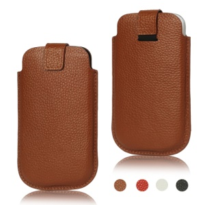 Genuine Leather Pouch Case for Samsung i9300 Galaxy S 3 / III HTC phones
