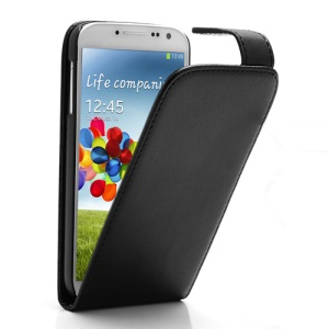 Classic Magnetic Vertical Flip Leather Case for Samsung Galaxy S 4 IV i9500 i9505